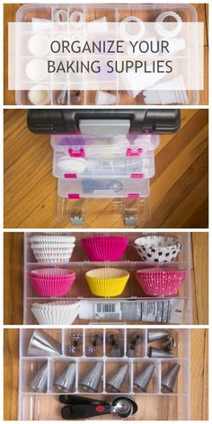 Perfect system for organizing baking supplies--especially pastry bag tips. #storagewithstyle #PMedia #ad @creativeoption