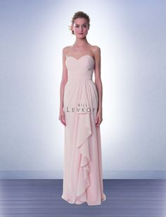 Bill Levkoff #987. Potential colors: Victorian Lilac or Plum.   In NC: Savi Formal Wear.  In IN: Bella Bridesmaid - Indianapolis 317-850-0027 OR Elegance Wedding & Evngwr - Highland 219-923-0977
