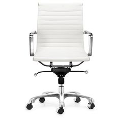 Manhattan Adjustable White Office Chair - Overstock™ Shopping - Great Deals on Office Chairs