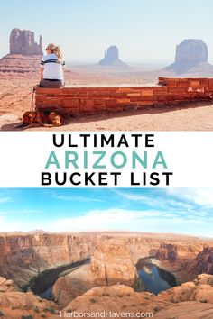 Wondering what to do in Arizona on vacation? This Arizona bucket list is full of inspiration for outdoorsy places to see in Arizona, from Arizona waterfalls to deserts. We'll help you find the best things to do in Arizona. #Arizonavacation #Arizonabucketlist | hiking in Arizona | Arizona national parks | travel to Arizona | Arizona vacation | Arizona trip | Arizona scenery | monument valley arizona | horseshoe bend arizona | places to go in Arizona Arizona Road Trip, Arizona Travel, Road Trip Usa, Usa Travel Guide, Travel Usa, Travel Tips, Arizona Waterfalls, Arizona National Parks, List Of Activities