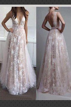 Prom Dresses 2018 V Neck Evening Lace Vneck 2019