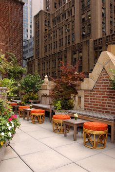 Rooftop of The Library Hotel, New York City