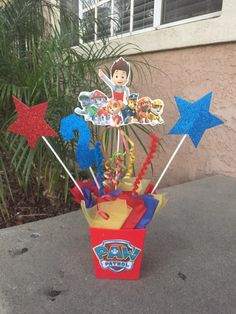 Paw Patrol Centerpieces, Paw Patrol Party, Paw Patrol Decoration, Paw Patrol Favors, Paw Patrol Birthday Party by FantastikCreations on Etsy https://www.etsy.com/listing/270718374/paw-patrol-centerpieces-paw-patrol-party