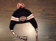 Harley Davidson crochet hat with ear flaps 1/15/14 for Marianne