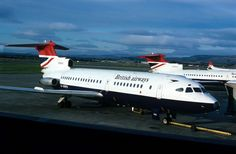 British Airways, [Hawker Siddeley Trident G-ARPH, Glasgow Airport; British Airline, British Airways, Glasgow Airport, Boeing 727, Cargo Airlines, Civil Aviation, Commercial Aircraft, Aeroplanes, Trident