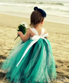 Cute flower girl- but I'd probably do blush instead of teal