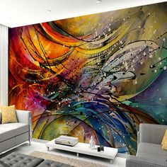 Custom Mural Wallpaper Stereo Lines Curve Abstract Art Wall Painting Living Room Sofa TV Background Decor Papel De Parede
