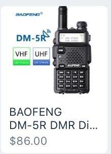 BAOFENG DM-5R DMR Digital Walkie Talkie Two Way Ham Radio