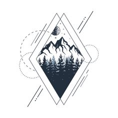 Check out this awesome 'Mountains.+Geometric+Style' design on - Check out this awesome 'Mountains.+Geometric+Style' design on - Check out this awesome 'Mountains.+Geometric+Style' design on - Check out this awesome 'Mountains.+Geometric+Style' design on - Geometric Mountain Tattoo, Tattoo Mountain, Geometric Tattoo Cover Up, Geometric Universe Tattoo, Geometric Tattoo Animal, Geometric Tattoo Drawings, Geometric Tattoo Meaning, Tattoo Abstract, Geometric Tattoo Design