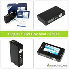 Sigelei 100W Box Mod – Just $79.00: http://www.cigbuyer.com/sigelei-100w-box-mod-deal/ #mod #boxmod #subohm #cloudchase #vape #vapedeals