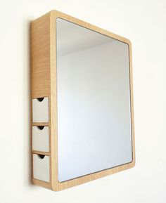 mirror with drawers