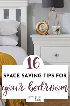 Easy ideas for bedroom storage. Perfect for master, teen, and kids bedrooms, when you want storage for small bedrooms too. Ideal for desks, wardrobes and furniture, when you want hidden and minimal storage solutions. Clever storage makes a huge impact on your organization. #lovechicliving