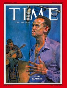 The Great Harry Belafonte 1959 Time Magazine cover