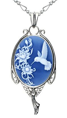 """Heart Necklace Best Friend Fashion Jewelry Natural Agate Cameo Charm Make a Wish Gift (Hummingbird). Made of Natural Agate(25x18mm) , Highest quality and unique design, Very good gift for present. Lucky Pendant, The Success is often reached through the little stuff """"Buy it now"""" Tomorrow never comes! Create a definite plan for carrying out your desire and begin at once, whether you are ready or not, to put this plan into action. (Napoleon Hill). No more worry about metal tannish…"""