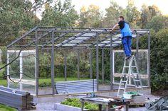 Bildresultat för växthus med pulpettak