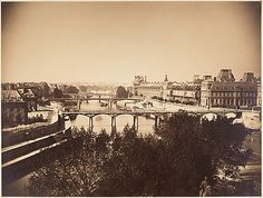 Gustave Le Gray (French, 1820–1884). [View of the Seine, Paris], 1857. The Metropolitan Museum of Art, New York. Gilman Collection, Gift of The Howard Gilman Foundation, 2005 (2005.100.628) #paris