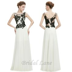 Black and white evening dresses for matric ball / matric farewell in Cape Town - Bridal Lane ♥