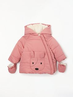Buy John Lewis & Partners Baby Dog Face Pocket Jacket from our Baby & Toddler Jackets & Coats range at John Lewis & Partners. Winter Baby Clothes, Baby Coat, Baby Puppies, Baby Dress, Baby Shop, John Lewis, Baby Kids, Kids Outfits, Kids Fashion