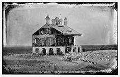 The Beacon House after the struggle for Fort Wagner, July It was the headquarters of General W. Davis of the Pennsylvania and had also been used by General Gillmore as a signal station] Morris Island, Beacon House, Library Of Congress, South Carolina, Pennsylvania, House Styles, Glass, Drinkware, Corning Glass