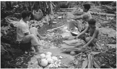This is an image of Samoan men gathering food for their families. The Samoans are a very isolated and small group of people bound by traditions and religious views. The usually live off the grid without modern technology and ideas.  -Ariel S  http://www.everyculture.com/images/  Credit:
