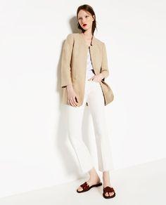 LINEN FROCK COAT from Zara