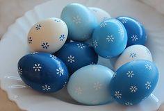 Kraslice - modrá sada
