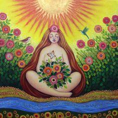 Interview with Sonia Koch – Nurturing Art Gaia, Mother Art, Goddess Art, Indigenous Art, Summer Solstice, Visionary Art, World Of Color, Vincent Van Gogh, Indian Art