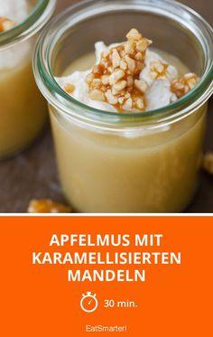 Apfelmus mit karamellisierten Mandeln - smarter - Zeit: 30 Min. | eatsmarter.de