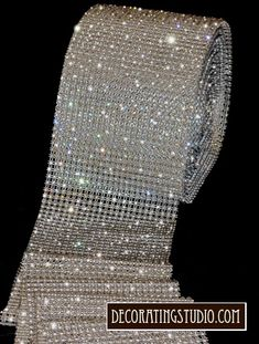 Rhinestone banding to decorate candle centerpieces, cake, etc - $13.95 per yard
