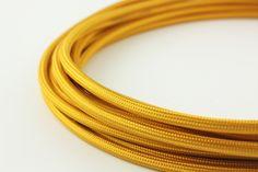 Golden yellow power cord