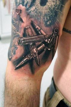 60 Bullet Tattoos For Men #TattooIdeasForMen #CoolTattooLife