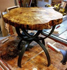 round live edge table - Google Search