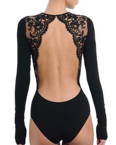 Enigma Long-Sleeve Bodysuit, Black by I. Sarrieri at Neiman Marcus. Ballet Fashion, Dance Fashion, Fashion Outfits, Womens Fashion, Cute Dance Costumes, Ballet Costumes, Dance Outfits, Dance Dresses, Pullover Shirt