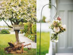 Beautiful flowers http://lovemydress.net/blog/2014/06/claire-pettibone-and-flowers-in-her-hair-a-spectacular-outdoor-spring-wedding-celebration.html