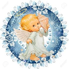 (99) Одноклассники Christmas Plaques, Christmas Decoupage, Christmas Angels, Christmas Art, Vintage Christmas, New Year Pictures, Angel Pictures, Pictures To Paint, Angel Artwork