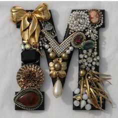 Alphabet Letter - beautifully decorated M