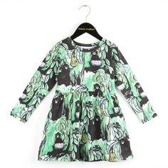 Black dress with monkey print