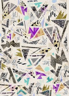 Our artists: Vasare Nar - Hectic pattern print 80's - www.customly.com