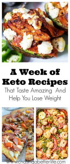 A Week of Keto Recipes That Taste Amazing And Help You Lose Weight #DietMealPlans #ketogenicdietweek1