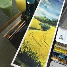 18x56 cm ... #canola ..... #waterblog#art#artist#artwork#painting#turkey#landscape#illustration#watercolor#draw#art_conquest#aquarela#artgallery#inspiring_watercolors#watercolormasters#royaleartfeatures#timetoart#акварель#bestartblog#foart1#watercolorartbook#artistuniversity#水彩画#adempotas#turkey#istanbul#paris