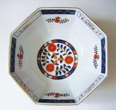 Vintage Mid Century Imari Paneled Serving Bowl by parkledge on Etsy