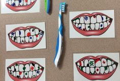 Print out pictures of teeth and have them laminated. Then, use dry erase markers to draw sugar bugs and have the kids use a tooth brush to get them off. This activity was a huge hit with all the kids! Good idea for dental health month! Learning Tips, Preschool Activities, Space Activities, Health Activities, Toddler Activities, Preschool Classroom, Preschool Crafts, Dental Health Month, Health Unit