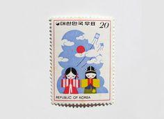 gorgeous old Korean stamps via Present & Correct