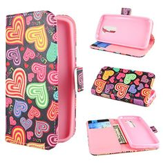 "Ivencase Colorful Heart Design Wallet Pu Leather Stand Flip Case Cover For Lg G2 Mini Lte / Lg D620 + One ""ivencase http://www.smartphonebug.com/accessories/20-best-coolest-lg-g2-mini-lte-cases-and-covers/"