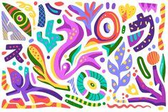 Fondo colorido abstracto formas orgánica... | Free Vector #Freepik #freevector #fondo Organic Form, Organic Shapes, Kids Canvas Art, Arte Pop, Art Inspo, Kids Rugs, Vector Freepik, Prints, Punch Needle