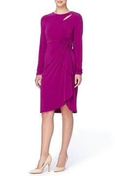 Free shipping and returns on Catherine Catherine Malandrino 'Gordon' Faux Wrap Sheath Dress at Nordstrom.com. Exuding timeless sophistication, a matte-jersey dress cut with long sleeves features a gracefully shaped faux-wrap front. Elegant details include an asymmetrical keyhole at the neckline, a waist-nipping twist of pleats at the side and a cascading skirt panel.