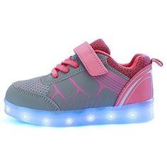 Oferta: 25.59€ Dto: -9%. Comprar Ofertas de Do Geek Unisex Child Niños Niñas 7 Color USB Carga LED Luz Glow Luminosos Light Up Velcro Flashing Sneakers (EU 36, Rosado) barato. ¡Mira las ofertas!