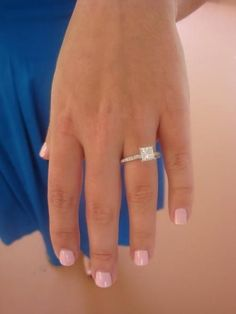 princess cut my dream wedding ring, big princess cut diamond with thin band/setting #weddingring