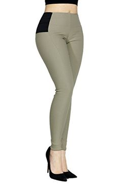 Womens Sexy Stretchy Slimming Soild Casual Dress Pants Side Elastic Band SMALL HP9345KHAKI * Details can be found by clicking on the image. (Note:Amazon affiliate link)