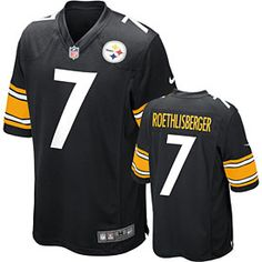 1c9d19462f7 Get this Pittsburgh Steelers Ben Roethlisberger Game Team Color Jersey at  ThePittsburghFan.com Pittsburgh Steelers